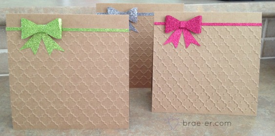embossing trio cards