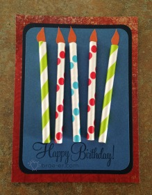 birthday paper straw card