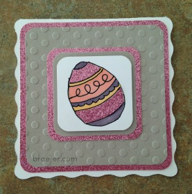 embossed easter card
