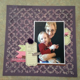 A pretty layout using one of the overlay's from the CTMH cricut artbooking