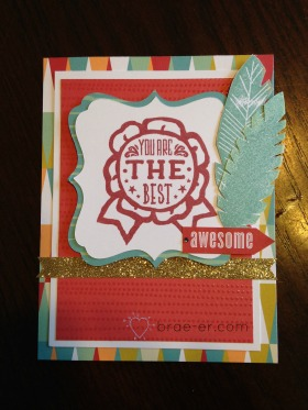 you're the best free to be card