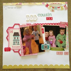 cousin fun background stamp