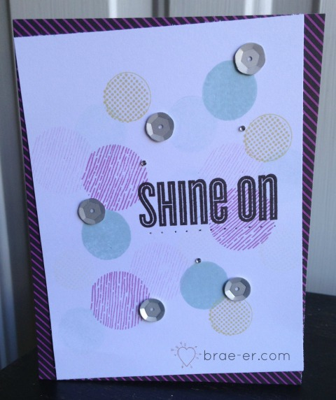 shine on card
