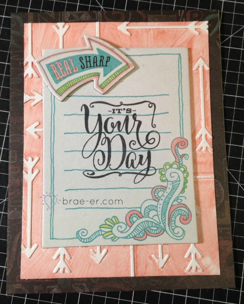 dry embossing ink card