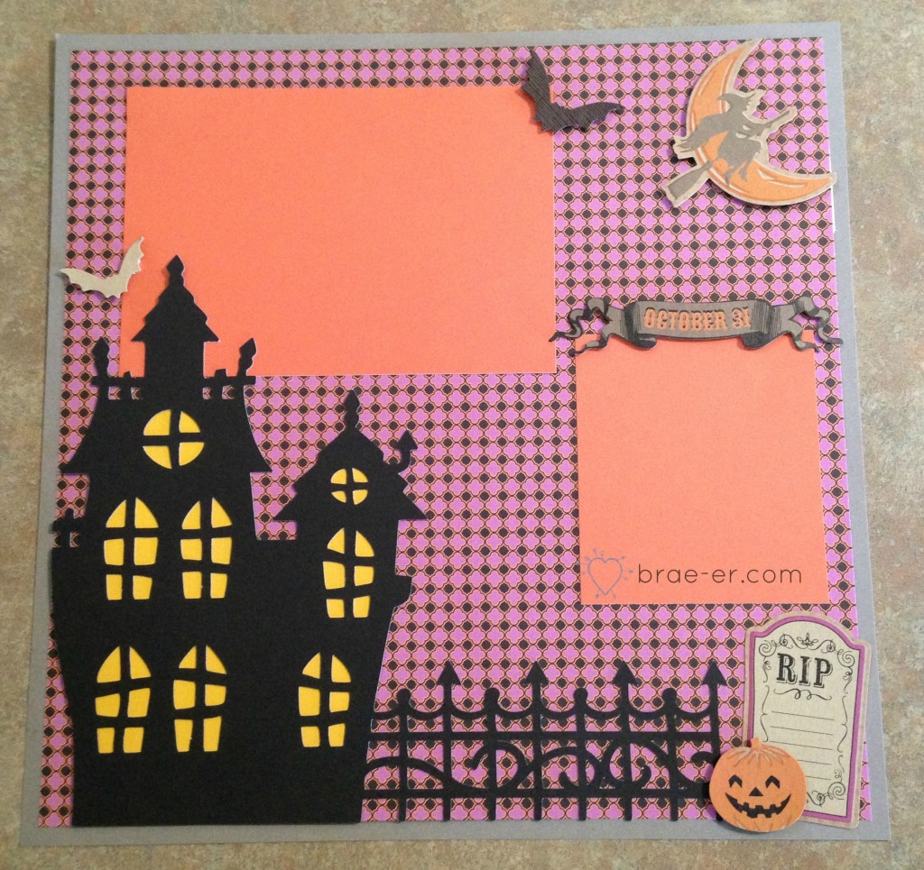 halloween page artfully sent