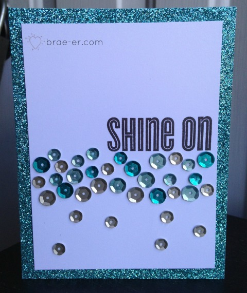 shine on sequin card