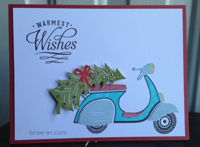 warmest wishes paperpiecing card