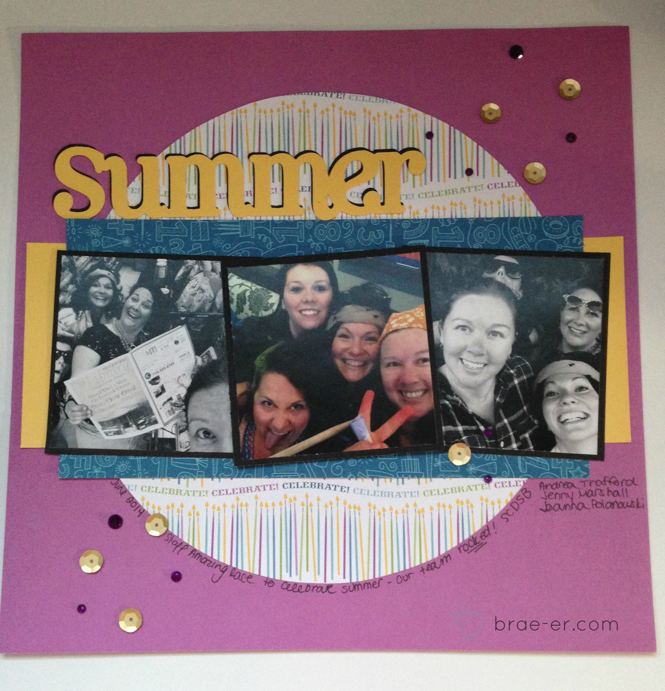 summer layout for sketch challenge