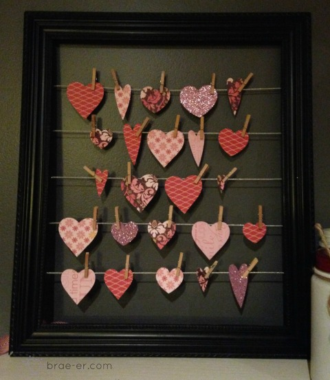 valentine heart display frame