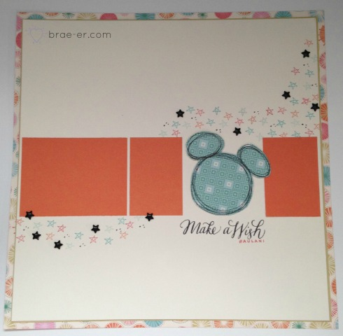 mickey make a wish layout