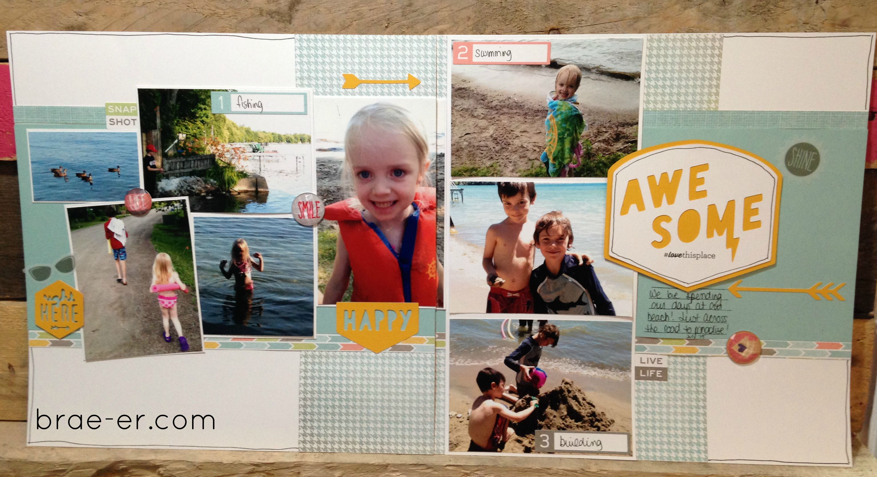 Summer vacation scrapbook ideas - Awesome Summer Layout