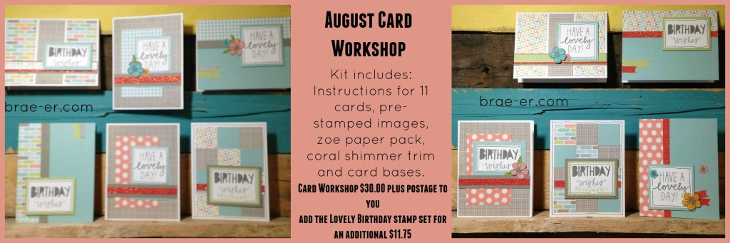 zoe august card workshop