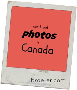 Where to print photos in Canada