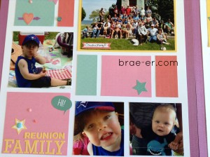 cardstock layout close